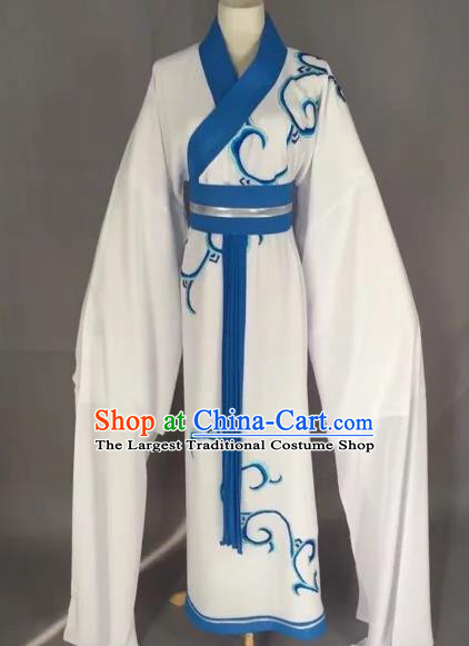 Chinese Beijing Opera Actress Blue Clothing Ancient Palace Lady Costume for Adults