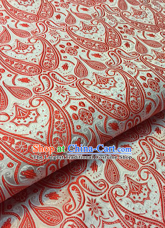 Asian Chinese Brocade Traditional Red Pattern Fabric Silk Fabric Chinese Fabric Material