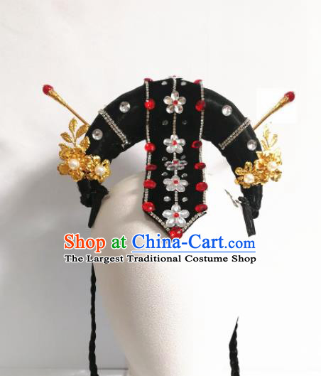 Chinese Traditional Beijing Opera Diva Hair Accessories Classical Dance Wig and Hairpins for Women