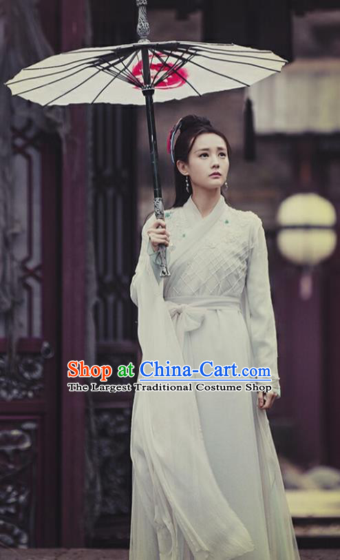 Chinese Ancient Peri Costume Traditional Hanfu Dress Swordswoman Clothing for Women