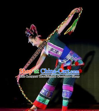 Chinese Traditional Folk Dance Costume Classical Dance Drum Dance Clothing for Women