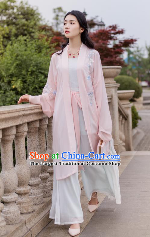 Traditional Chinese Song Dynasty Costumes Ancient Embroidered Hanfu Dress for Women
