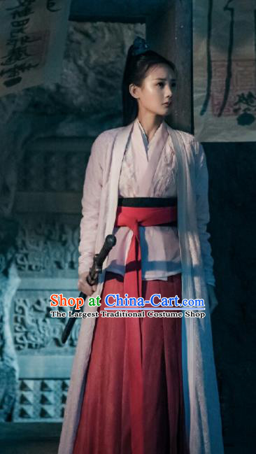 Chinese Traditional Ancient Female Swordsman Knight Embroidered Costumes for Women