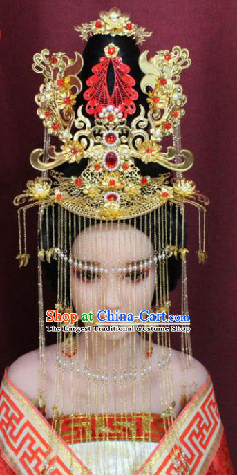 Chinese Ancient Princess Consort Hair Accessories Tang Dynasty Empress Phoenix Coronet Hairpins for Women
