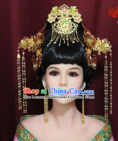 Chinese Ancient Princess Hair Accessories Tang Dynasty Queen Phoenix Coronet Hairpins for Women