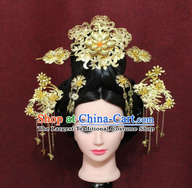 Chinese Handmade Princess Hairpins Ancient Phoenix Coronet Hair Accessories for Women
