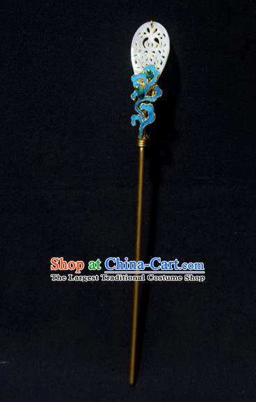 Chinese Ancient Qing Dynasty Hair Accessories Princess Tian-Tsui Hair Clip Handmade Palace Hairpins for Women
