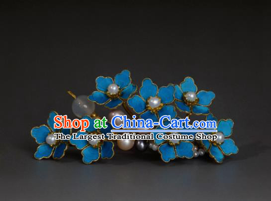 Chinese Handmade Princess Hanfu Hairpins Pearls Flowers Hair Stick Ancient Hair Accessories for Women