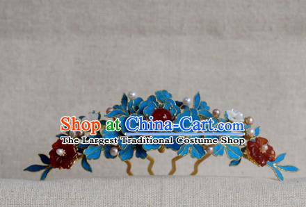 Chinese Handmade Hair Accessories Hairpins Ancient Hanfu Agate Beads Hair Comb for Women