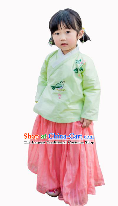 Traditional Chinese Ancient Costumes Ming Dynasty Princess Hanfu Clothing for Kids