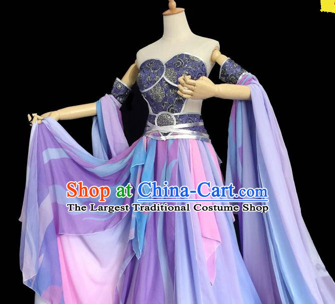 Chinese Ancient Cosplay Peri Swordswoman Purple Hanfu Dress Traditional Han Dynasty Princess Costume for Women