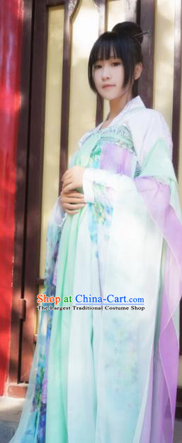 Chinese Ancient Cosplay Peri Hanfu Dress Traditional Tang Dynasty Princess Costume for Women