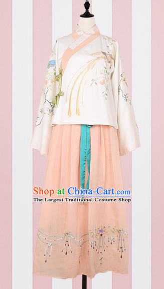 Chinese Ancient Costumes Traditional Ming Dynasty Princess Hanfu Dress for Women
