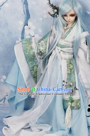 Chinese Ancient Swordsman Hanfu Han Dynasty Royal Highness Costume for Men