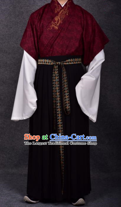 Chinese Ancient Traditional Ming Dynasty Minister Costumes for Men