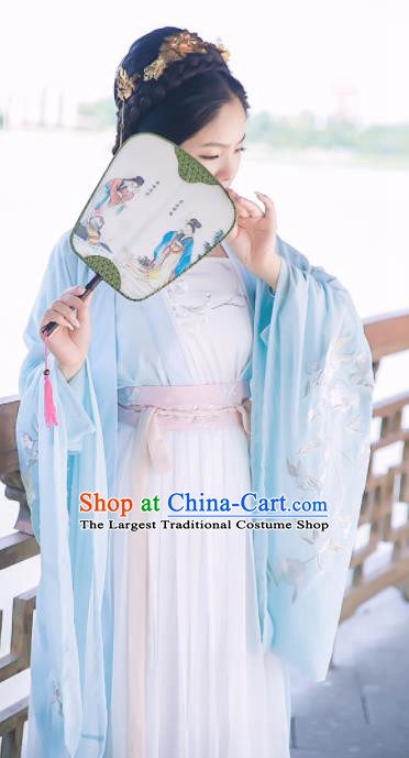 Chinese Ancient Palace Lady Dress Tang Dynasty Princess Embroidered Costumes for Rich Women