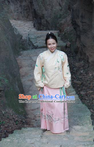 Chinese Ancient Princess Hanfu Dress Ming Dynasty Embroidered Costume for Rich Women