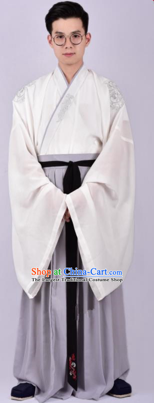 Chinese Ancient Swordsman Hanfu Clothing Traditional Ming Dynasty Cabinet Minister Costumes for Men
