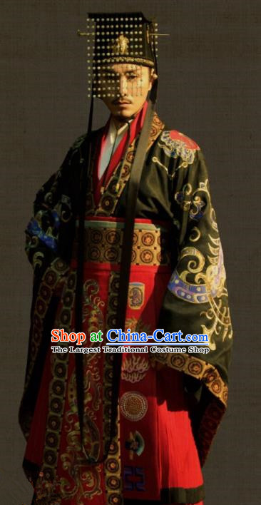 Chinese Tang Dynasty Emperor Clothing The Rise of Phoenixes Ancient Costume Imperial Robe for Men