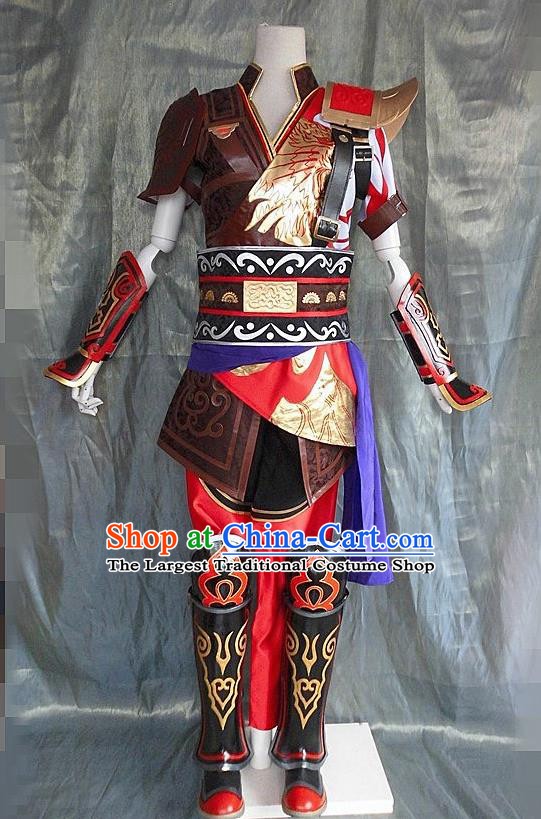 Asian Chinese Cosplay General Costume Ancient Swordsman Clothing for Men