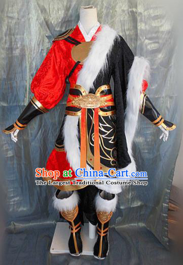 Asian Chinese Cosplay Customized Warriors Hunter Costume Ancient Swordsman Clothing for Men