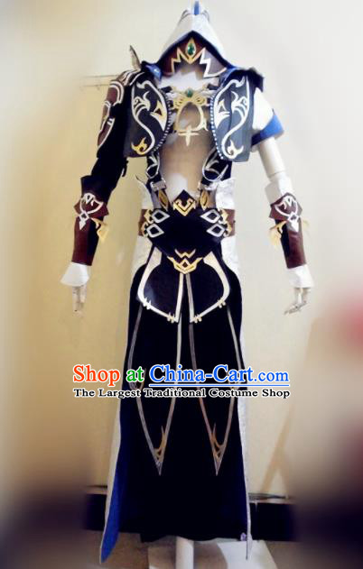 Asian Chinese Cosplay General Warrior Customized Costume Ancient Swordsman Clothing for Men