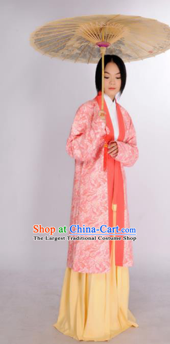 Traditional Chinese Song Dynasty Costume Ancient Young Lady Hanfu Dress for Women