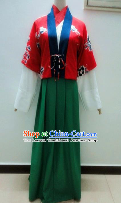 Traditional Chinese Tang Dynasty Young Lady Hanfu Dress Ancient Costume for Poor Women