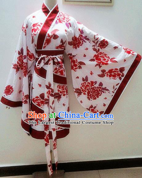 Traditional Chinese Han Dynasty Young Lady Hanfu Dress Ancient Costume for Rich Women
