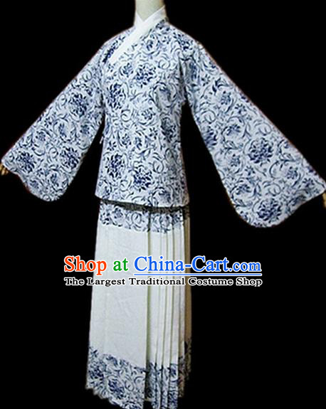 Traditional Chinese Ming Dynasty Nobility Lady Hanfu Dress Ancient Fairy Costume for Women
