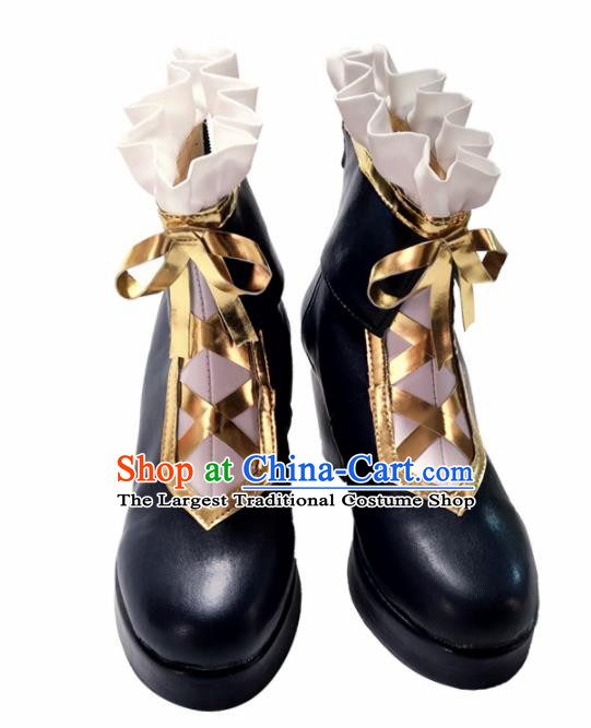 Asian Chinese Cosplay Princess Shoes Cartoon Fairy High-heeled Shoes for Women