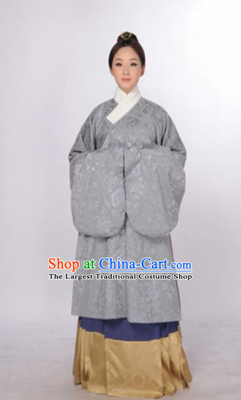 Asian Chinese Ming Dynasty Nobility Lady Hanfu Dress Ancient Traditional Royal Countess Costumes for Women