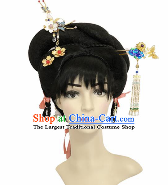 Chinese Ancient Princess Hair Accessories Beijing Opera Palace Lady Hairpins and Wigs for Women