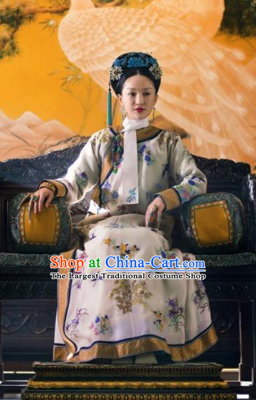 Ruyi Royal Love in the Palace Chinese Qing Dynasty Empress Embroidered Costumes and Headpiece Complete Set