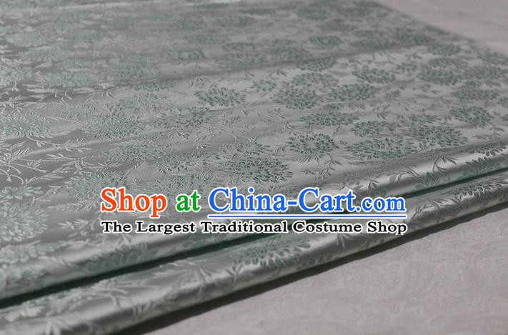 Chinese Traditional Cloth Cheongsam White Brocade Fabric Tang Suit Silk Material Drapery