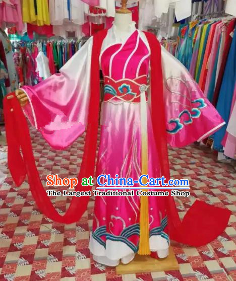 Chinese Traditional Beijing Opera Diva Embroidered Dress Peking Opera Princess Costume for Adults