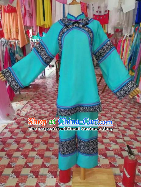 Chinese Traditional Beijing Opera Village Girl Clothing Peking Opera Costume for Adults