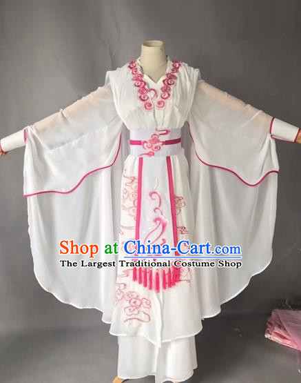 Chinese Traditional Beijing Opera Madam White Snake White Clothing Peking Opera Actress Costumes for Adults