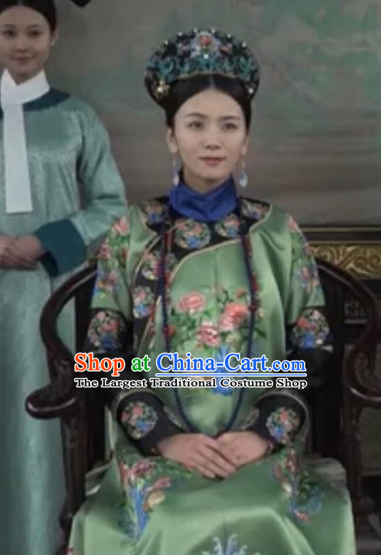 Chinese Drama Ruyi Royal Love in the Palace Ancient Qing Dynasty Imperial Consort Costumes and Headpiece for Women