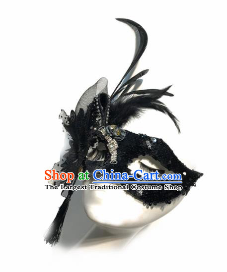 Top Halloween Cosplay Feather Masks Brazilian Carnival Catwalks Face Mask for Women