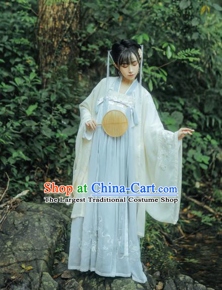 Chinese Traditional Tang Dynasty Princess Replica Costumes Ancient Peri Hanfu Dress for Women