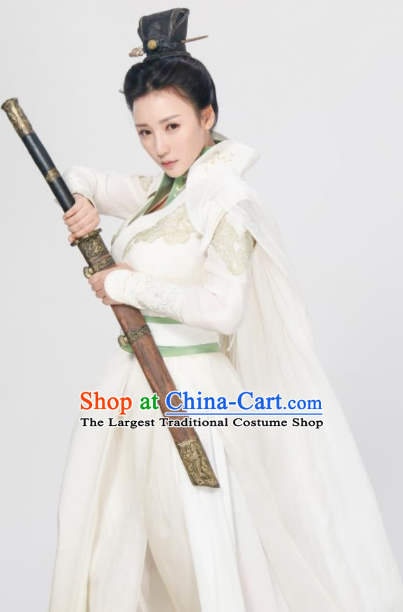 Chinese Ancient Traditional Ming Dynasty Female Knight Swordswoman Replica Costumes for Women