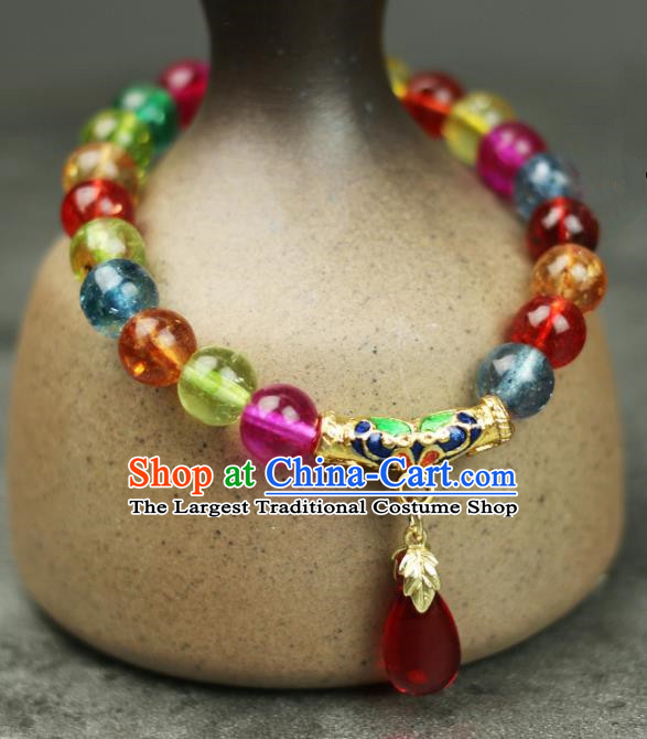 Handmade Chinese Traditional Crystal Bracelet Traditional Classical Hanfu Jewelry Accessories for Women