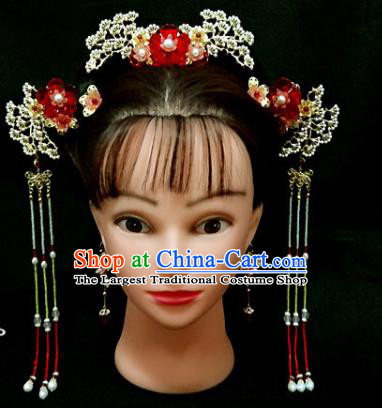 Chinese Traditional Pineburst Hairpins Handmade Classical Hair Accessories Complete Set for Women