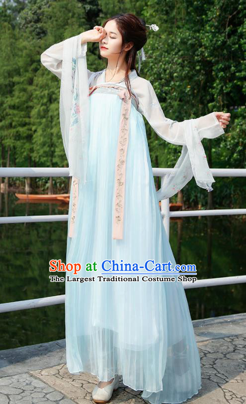 Chinese Traditional Tang Dynasty Palace Hanfu Dress Ancient Female Historical Costumes for Women