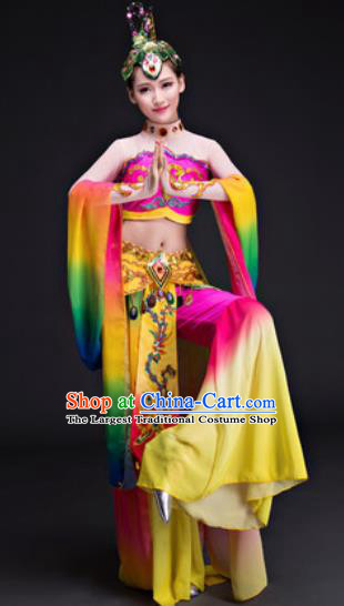 Chinese Traditional Umbrella Dance Costumes Classical Dance Dunhuang Flying Apsaras Dance Dress for Women
