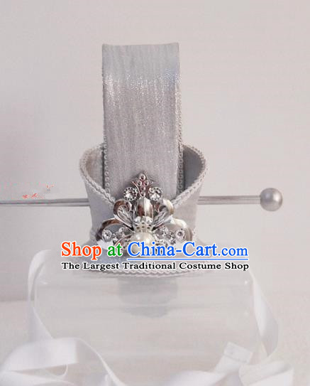 Chinese Ancient Nobility Childe Hair Accessories Han Dynasty Bridegroom White Headwear for Men