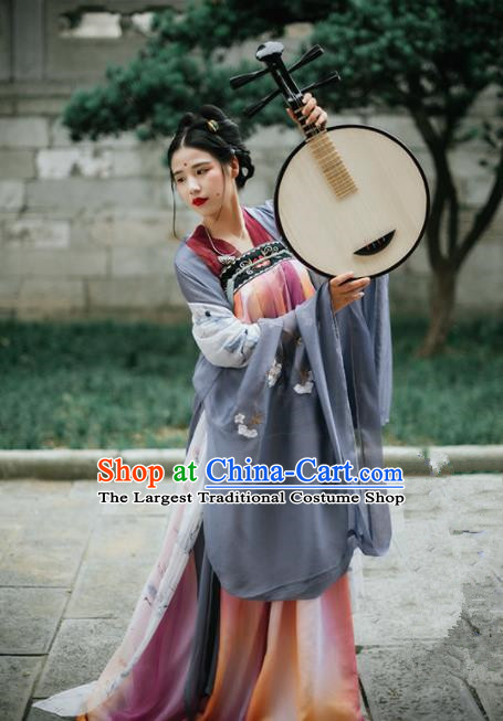 Chinese Tang Dynasty Imperial Concubine Historical Costumes Ancient Traditional Hanfu Dress Complete Set for Women