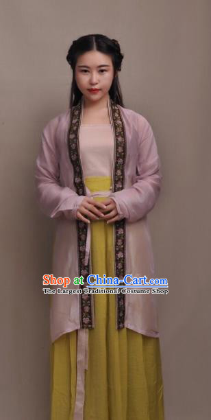Chinese Ancient Young Lady Hanfu Dress Traditional Song Dynasty Historical Costumes for Women