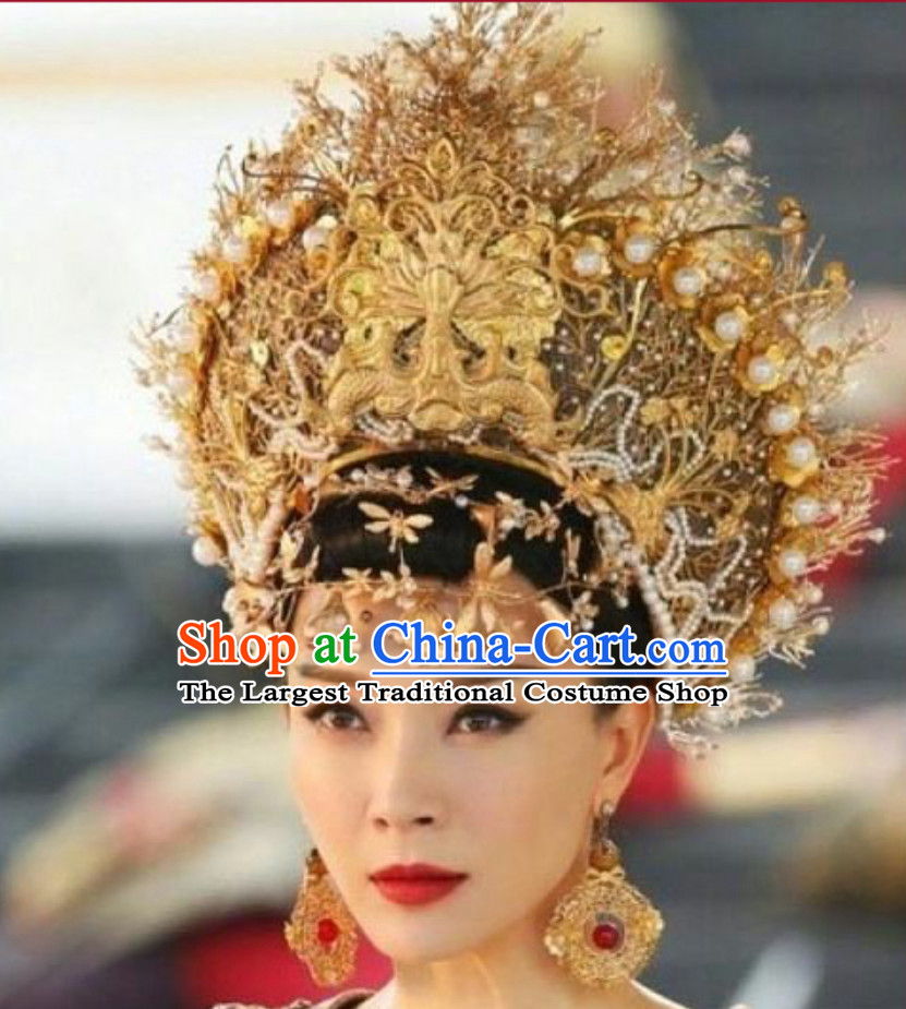 Top Traditional Thailand Empress Imperial Crown Hair Accessories Princess Headwear